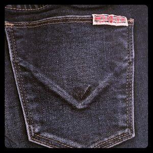 Hudson girl jeans. Dark wash skinny's